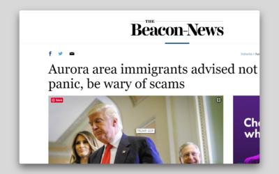 A los inmigrantes del área de Aurora se les recomienda no entrar en pánico y desconfiar de posibles estafas