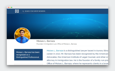 Moises L. Barraza Has Been Recognized as One of the Top in His Industry by the Expert Network