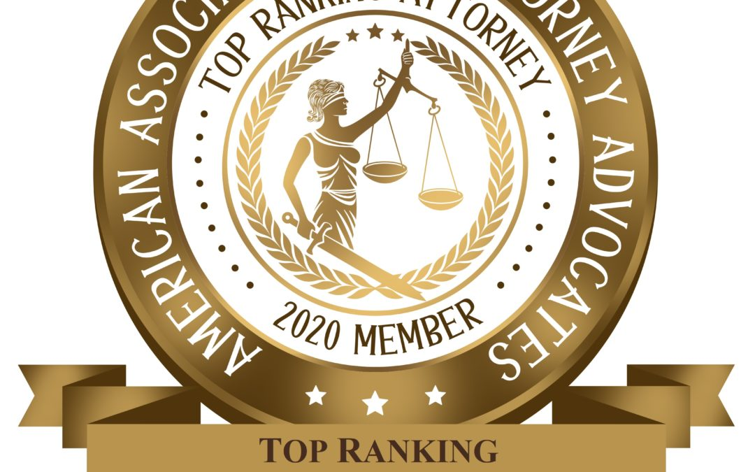 Top Ranking Immigration Law Firm – .04% of the the Nation's Attorneys – American Association of Attorneys Advocates (2020)